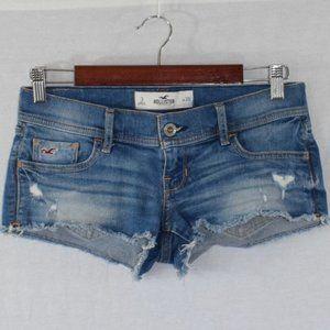 Hollister Distressed Denim Shorts Size 3
